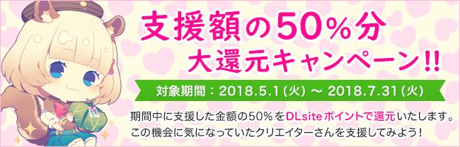 支援額の50%分 大還元キャンペーン!