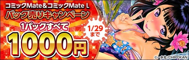 【一水社】コミックMate/コミックMate L パック売りキャンペーン