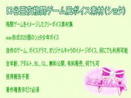 口谷亜夜格闘ゲーム風無料ボイス素材(ショタ)