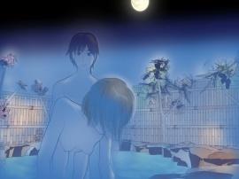 温泉でイケメン男子と偶然混浴してつい抱かれてしまった素敵な月夜