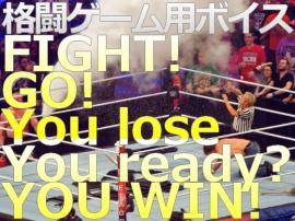格闘ゲーム用 著作権フリーボイス FIGHT! / GO! / You lose / You ready? / YOU WIN!