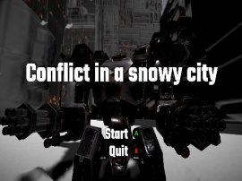 Conflict in a snowy city