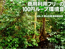 商用利用フリーの100円ループ環境音 VOL.2 森林環境音(録音地:埼玉県狭山丘陵)