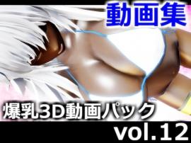 爆乳3D動画パック vol.12 (2020年12月、2021年1月、合併号) パイズリ、爆乳、ふたなり百合