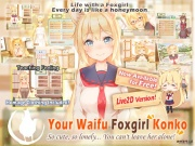 [FREE] [Live2D] [All-Age] Your Waifu Foxgirl Konko [English Ver.]